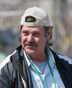 homeless man outdoors - stock photo