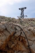 cableway remains - stock photo