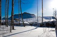 Ski resort in the suburbs. Stock Photos