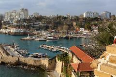 Stock Photo of harbors old antalya.