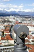 viewfinder telescope - stock photo
