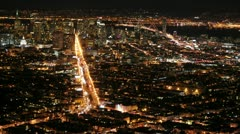 Time Lapse of San Francisco at Night -  4K - 4096x2304 Stock Footage