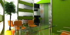 Exhibition Stand Kiosk Interior Exterior Stock Illustration