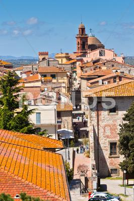 Stock photo of castiglione del lago old town, italy