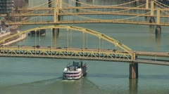 Riverboat on the Allegheny River 2 Stock Footage
