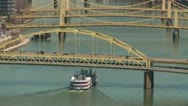 Stock Video Footage of Riverboat on the Allegheny River 2