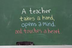 Inspirational phrase for teacher appreciation Stock Photos