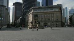 Frankfurt Rossmarkt Square Stock Footage