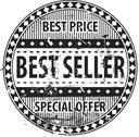Stock Illustration of best seller rubber stamp grunge