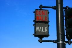 Don't walk Stock Photos