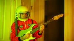 A nonsense astronaut guitar Stock Footage