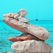 Stack of stones on a beach Stock Photos