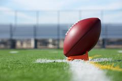 Pro football teed up for kickoff Stock Photos