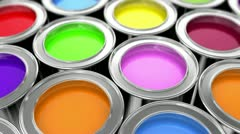 paints - stock footage