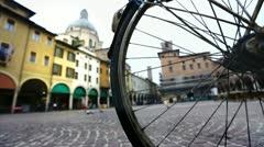 Mantova and a bike. Stock Footage