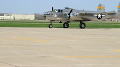 North American B-25 Taxi Stock Footage