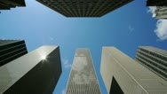 Stock Video Footage of Skyscraper tall corporate office buildings timelapse