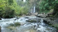 Waterfall, Huayluang waterfall at Ubonratchathani Thailand Stock Footage