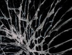 Abstract broken glass Stock Photos