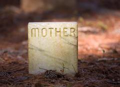 mother gravesite - stock photo