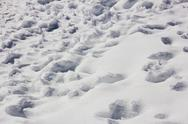 Footprints in the snow Stock Photos