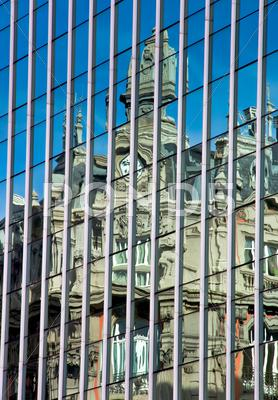 Stock photo of reflection in building