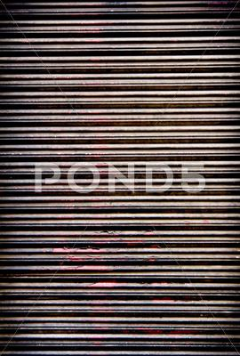 Stock photo of metal gate