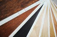 Stock Photo of variety of wood panels with laminated samples