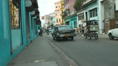 Cuban Cars And Street 2 Stock Footage