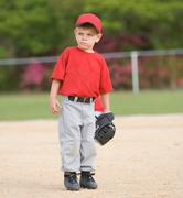 Little league baseball player Stock Photos