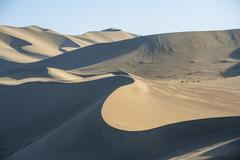 The sand dunes in Dunhuang, Gansu of China Stock Photos