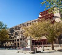 Mogao grottoes, dunhuang, Gansu of China - stock photo