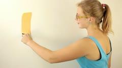 Painter girl - stock footage