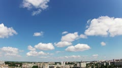 Quick clouds over the city. Timelapse Stock Footage