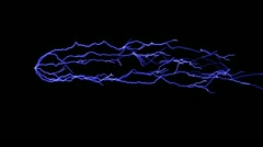 Loopable, alpha channel lightning background Stock Footage