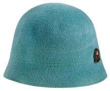 felt women's cloche hat - stock photo
