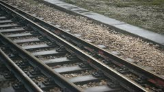Rail track Stock Footage