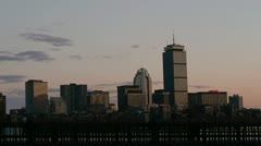 Couple Walks on Boston Bridge at Sunset - stock footage