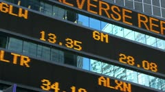 Stock market ticker moving fast Stock Footage