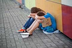 homelessness - stock photo