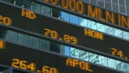 Stock Video Footage of Stock market ticker moving fast