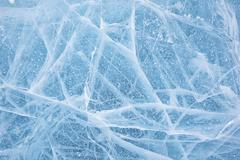 baikal ice texture - stock photo