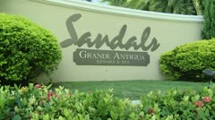 Stock Video Footage of Antigua Sandals Resort