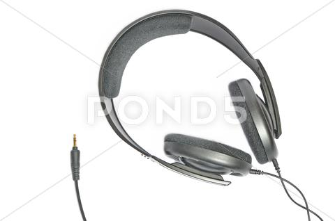 Stock photo of headphones isolated on white