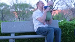 Father and Baby Stock Footage