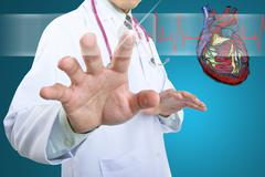 medical doctor checking your healthy concept - stock illustration