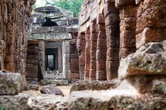 Ta prohm in angkor, cambodia Stock Photos