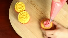 Decorating Cupcakes - stock footage