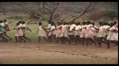 School, Millitary, Kenya, Africa, 1970 (vintage 8mm film) Stock Footage