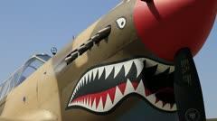 WWII P-40 Warhawk Stock Footage